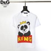 ドルガバ Dolce & Gabbana メンズ トップス 元気なイメージがあるアイテム コピー パンダプリント KING Tシャツ 2色可選 最安値
