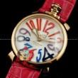 ガガミラノ 時計 コピー Gagamilano manuale マヌアーレ 腕時計 ゴールデン/レッド