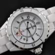 大人気美品CHANELシャネル偽物 腕時計J12 H0968 クオーツ ホワイト レディースウォッチ デイトカレンダー 時計