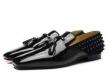 HOT新作登場 Christian Louboutinクリスチャンルブタン 靴 コピー スタッズビジネスマンTassilo Flat高級感満点 レザーシューズ メンズ  通勤用