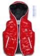 鮮やかな赤色 MONCLER偽物 モンクレール 子供 ダウン 防寒性高い ノースリーブ コートkids down vest 超かわいい ファッションダウンジャケット