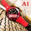 超激得送料無料上質レザーベルト時計ビジネスシーンロレックス時計 偽物ファッションアイテムブラックレッドメンズ