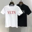 ヴァレンティノ tシャツ 偽物VALENTINO全国無料正規品良質なコットン英字プリントtシャツブラックホワイト