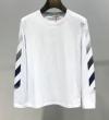 今シーズン最注目のトレンド Off-White オフホワイト 長袖Tシャツ 2色可選 2019春夏人気モデル