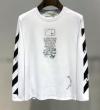 長袖Tシャツ 2色可選 一目惚れ必至2019夏季セール 今季ヒット必至の夏季新作 Off-White オフホワイト
