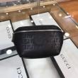抜群の機能性FENDIコピー ブラック ナッパレザー ベルトバッグ 使いやすいフェンデイ ウエストポーチ2020人気