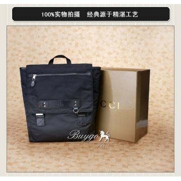 VIP価格グッチ バックパック男性用 ブラック通勤通学定番人気大容量リュックバッグ