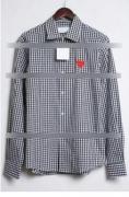 上品COMME des GARCONS  コムデギャルソン 長袖チェックシャツ 販売スタイリッシュな印象に_品質保証