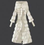 姫様のドレスようなデザインMONCLER モンクレール ロングダウンジャケット コピーホワイトコート_品質保証