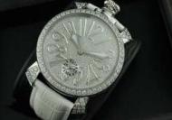 高級感溢れるGaGa Milano ガガミラノダイヤ文字盤ベゼル 銀インデックス 手巻_品質保証