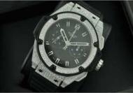 hublot geneveメンズウォッチウブロ時計 スーパーコピー キングパワー ダイヤベゼル 日付表示 ラバー 45MM シルバー自動巻き 5針_品質保証