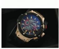 限定数量 ウブロ ビッグバン HUBLOT 芸能人 人気 メンズ時計 ブラック 男性用腕時計 ウォッチ自動巻き 生活防水 ラバー_品質保証