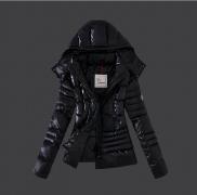 レディースファッション MONCLER モンクレール ダウンジャケット 2017秋冬 ブラック ダウンコート アウター フード付き_品質保証