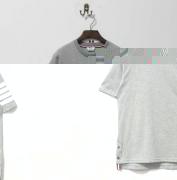 2017 春夏 人気 トムブラウン Tシャツ メンズ 半袖Tシャツ THOM BROWNE 高品質 カジュアル 大人気 フィット感 グレー クルーネック綿