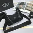 PRADA プラダ ショルダーバッグ レザー シンプルコーデに最適 レディース コピー 黒 2020限定 大容量 おすすめ 手頃価格_コピー ブランド 通販 安心