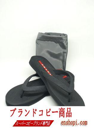 prada ブランド コピーのお洒落なビーチサンダル♪Rubber Flip Flops♪国内発送♪-3