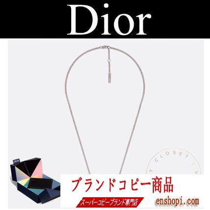 dior ブランド コピー ネックレス シルバー ロゴ チェーン メンズ 2019AW CD 新作-3
