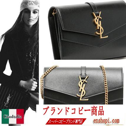 Saint laurent コピー SULPICE CHAIN WALLET IN SMOOTH LEATHER-3