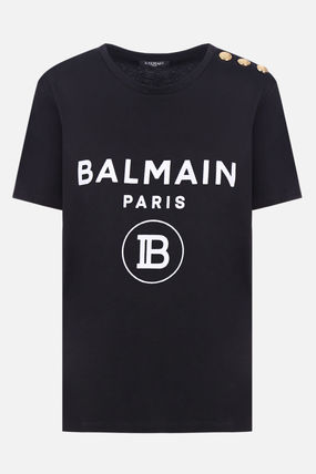 balmain コピー★ロゴ・プリント・コットン・Tシャツ-3