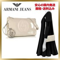 ◇ armani コピー JEANS ◇ Faux Patent Mini Crossbody 【関税送料込】