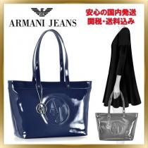 ◇ armani コピー JEANS ◇ Eco Patent Large Tote Bag 【関税送料込】