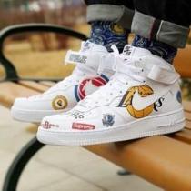 US9★完売間近★supreme コピー x NBA x Air Force 1 M...