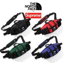 FW18 supreme コピー × TNF Leather Waist Bag -...