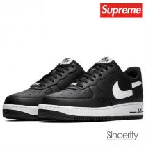 supreme コピー AR7623-001 CDG/NIKE AIR FORCE 1 LOW / BLACK / 11.5