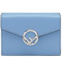 フェンディ ブランド コピー 折り畳み財布 8M0395 A0KK F0V1A 色:NEBULA-ブルー-1