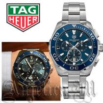 ★関税・送料込★TAG heuer スーパーコピー Aquaracer Chronograph Blue Dial