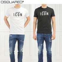 D SQUARED 2★S74GD0305 ロゴプリント・半袖Tシャツ