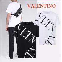 【valentino スーパーコピー】valentino スーパーコピープリントTシャツ☆関税込・国内発送-1