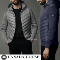 CANADA goose コピーブランド★ハイブリッジ ニット フーディー・ブラックラベル-1