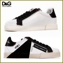 D&G/ポルトフィーノ スニーカー サイドロゴラベル付き ブラック-1