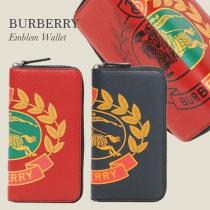 burberry コピー エンブレムプリント 長財布