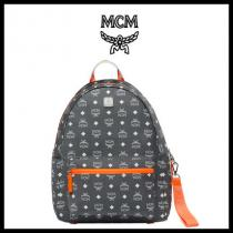 【mcm コピー】RESNICK WHITE LOGO NYLON BACKPACK...