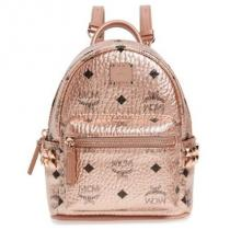 mcm コピーブランド X-Mini Stark Side Stud Coated Canvas Backpack