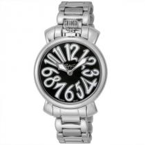 ガガミラノ ブランド コピー 時計 NEW MANUALE 35MM 腕時計 シルバー/ブラック-1