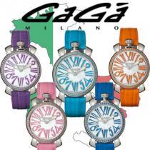煌めく★GaGa milano スーパーコピー 時計 Manuale ストーン シェル文字盤 35mm-1