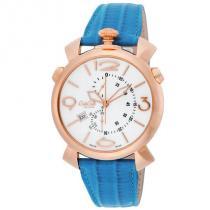ガガミラノ コピー 時計 マヌアーレ THIN 46mm 腕時計 ホワイト/ブルー-1