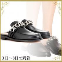 関税込◆Chain leather slippers-1