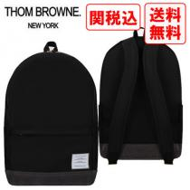 関税・送料込 THOM browne コピー ナイロンとスエード バックパック-1