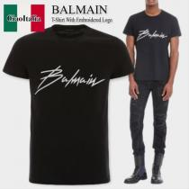 balmain スーパーコピー t-shirt with embroidered logo