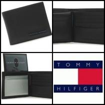 韓国発☆TOMMY HILHIGER LEATHER PASSCASE BILLFOLD BLACK