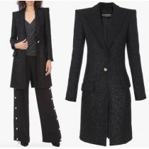 BAL427 IRIDESCENT TWEED COAT