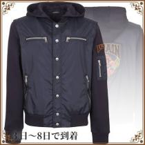 関税込◆balmain コピー Bi-material Hooded Bomber