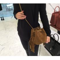 Saint laurent コピー16AW☆Emmanuelle fringe Bag☆Brown