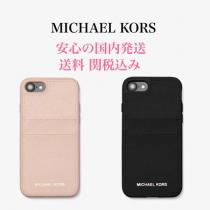 *国内発送* MK Saffiano Leather Case for iPhone 7/8