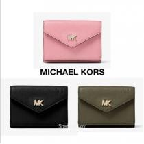 Michael kors スーパーコピー★Small Pebbled Leather 三つ折り財布★