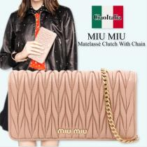 miu miu コピー matelasse clutch with chain
